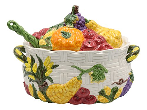 Tureen Large - Cosmos Harvest Tureen, Multicolor