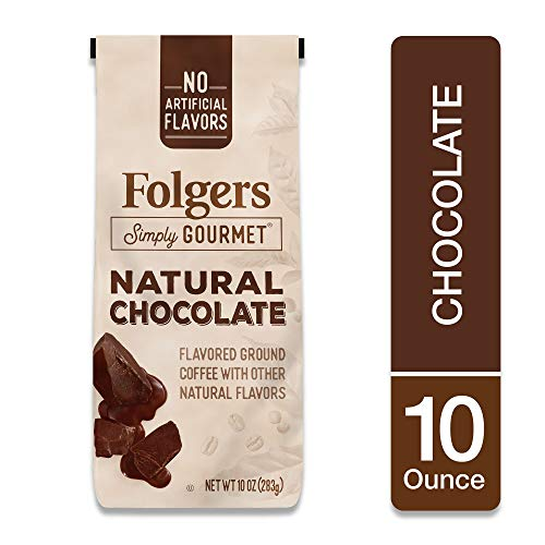 Folgers Simply Gourmet Coffee, Chocolate Flavored Ground Coffee, 10 Ounces