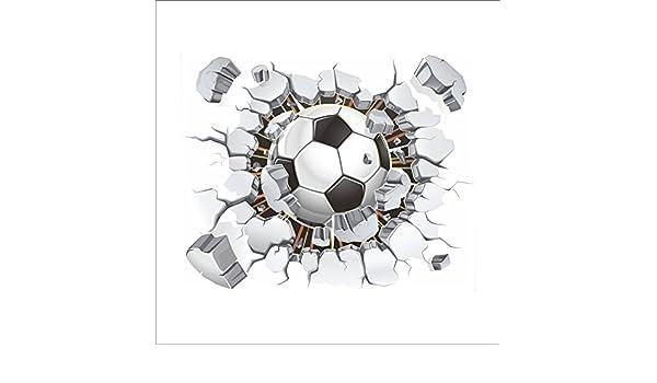 Calcomanía 3D de balón de fútbol para pared de fútbol, para ...