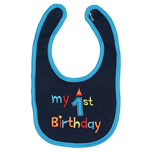 Maticr First Birthday Bibs Boy Cake Smash Bib 1st Birthday Outfit Accessory Party Supplies (Navy Blue) (1st Birthday Bib)