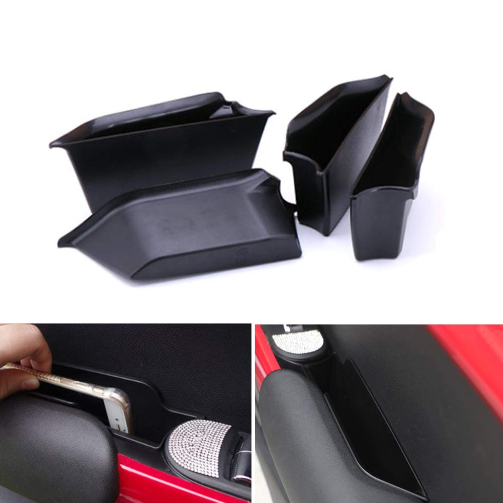 QIDIAN 1Set Car Decal Styling Accessories Inner Side Boxes Car Door Armrest Handle Storage Box Tray Holder for Mini Cooper F55 Black Car Styling Accessories by QIDIAN