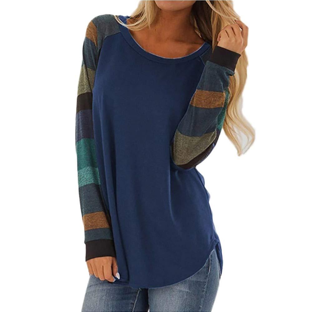SEIGNEER Magliette Donna Maniche Lunghe Autunno Casuale Donna Tshirt Manica Lunga Tops