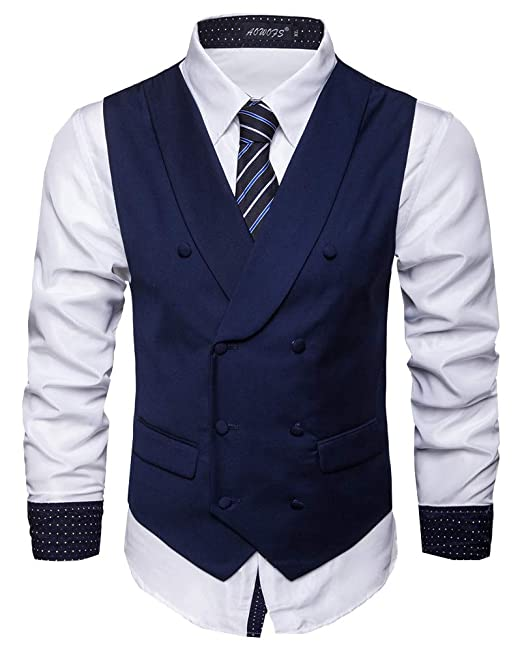 Hombres Traje Chaleco Formal Slim Fit Vestido Chaleco ...
