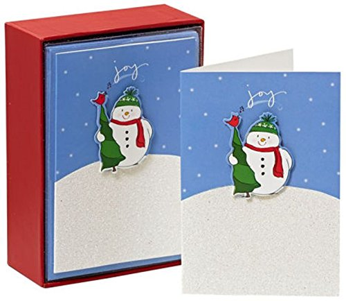 Joy Snowman Christmas Boxed Cards- 15 Count