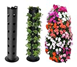 Set of 3 Flower Tower Freestanding Planters