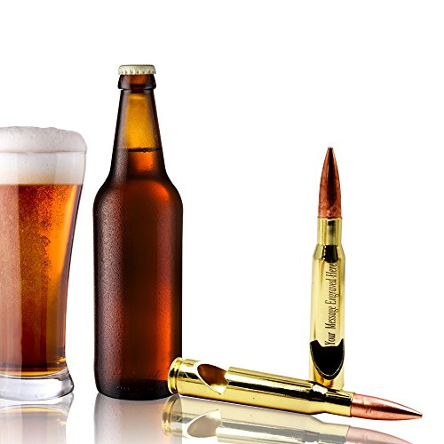 PP TOY Personalized Engraved Bullet Bottle Opener-50 Caliber Beer Opener Engrave Free( 1PCS) (50 Cal Beer Opener)