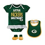 Green Bay Packers Little Sweet Infant Girls Creeper Set, 0-3 Months