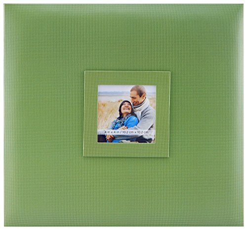 MCS MBI 13.5x12.5 Inch Earthtones Collection Scrapbook Album with 12x12 Inch Pages and Photo Opening, Leaf - Leaf Paper 12x12