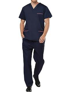THEE Uniforme Médico Ropa Quirúrgica Bata Médico Laboratorio Enfermera Sanitaria Unisex