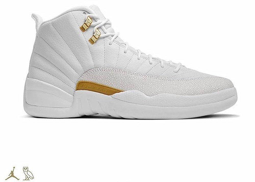 92be9f61a07675 Air-Jordan Men s Air Jordan 12 Retro OVO White Gold Leather Basketball  Shoes 456985-090 Size 11  Amazon.ca  Shoes   Handbags
