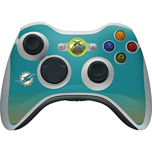 (Skinit NFL Miami Dolphins Xbox 360 Wireless Controller Skin - Miami Dolphins Breakaway Design - Ultra Thin, Lightweight Vinyl Decal Protection)