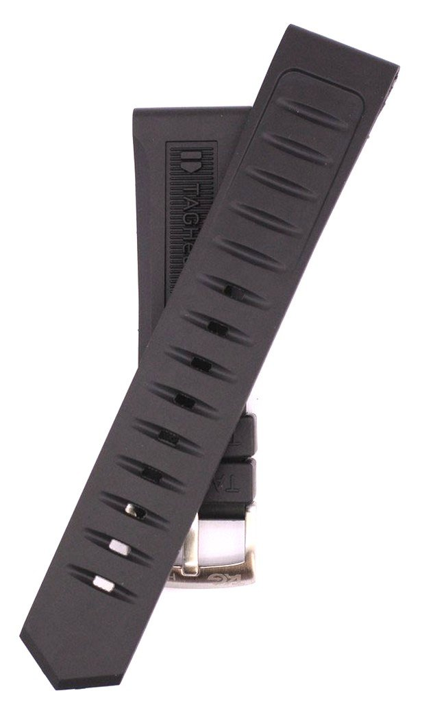 22mm Black Rubber Watch Strap For Formula 1 BT0717 WAH1111 Watches TAG113