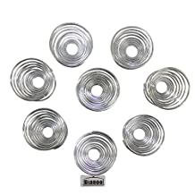Dianoo Stainless Steel Egg Holder, Spring Wire Tray Boiled Egg Cups Holder Stand Storage, 8PCS, Silver