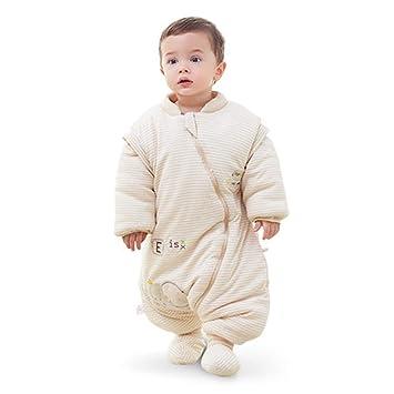 Saco de dormir Xiuyun algodón para bebés Grueso para bebés de Invierno Anti-Patada (Color : A, Tamaño : Metro): Amazon.es: Hogar