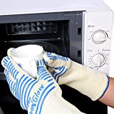 OVOS Premium Oven Gloves EN407&CE Certified to Withstand 450°F Gloves for BBQ(1 Pair)
