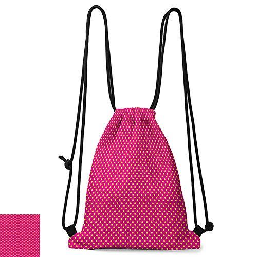 Personality backpack Girls Decor Polka Dots Vintage Textured Classical Lovely Feminine Nostalgic Design W14
