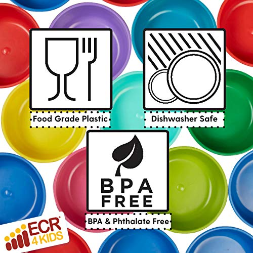 51b5C rUyiL - ECR4Kids My First Meal Pal Snack Bowls – BPA-Free, Dishwasher Safe, Stackable Bowls For Baby, Toddler And Child Feeding - 3-Pack, Citrus
