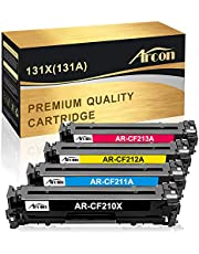 Arcon Compatible Toner Cartridge Replacement for HP 131A CF210A 131X CF210X M251nw M276nw for HP LaserJet Pro 200 color M251nw MFP M276nw Canon MF8280Cw LBP7110Cw CF211A CF212A CF213A Printer(4 Packs)