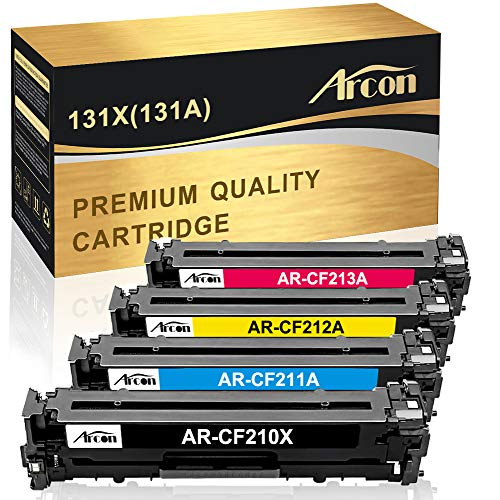 (Arcon Compatible Toner Cartridge Replacement for HP 131A CF210A 131X CF210X M251nw M276nw for HP LaserJet Pro 200 color M251nw MFP M276nw Canon MF8280Cw LBP7110Cw CF211A CF212A CF213A Printer(4 Packs))