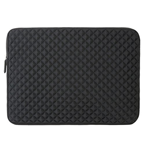 Evecase Diamond Foam Splash & Shock Resistant Neoprene Sleeve Notebook Case Bag for Dell Inspiron 15.6inch / Dell XPS 15 Laptop Chromebook- Black (Series Notebook Bag)