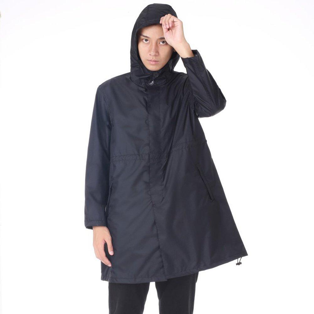 Noir grand GSCchaussures Imperméable imperméable de Voyage de lumière foncée des Hommes Imperméable (Couleur   Bleu, Taille   XL)
