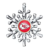 NFL Kansas City Chiefs Traditional Snowflake Ornament