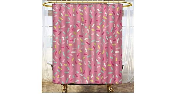 Lacencn - Cortinas de ducha, color rosa y morado, mandala étnica viva, diseño oriental original, imagen artística trascendente, juego de decoración de baño con ganchos, color violeta rubí, tamaño: ancho 36 x