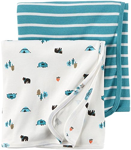 Carters Babysoft Swaddle Blankets Turquoise