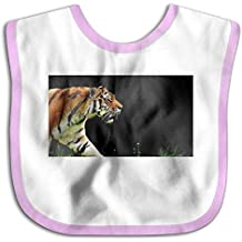 Wild Tiger Funny Baby Bibs Burp Infant Cloths Drool Toddler Teething Soft Absorbent