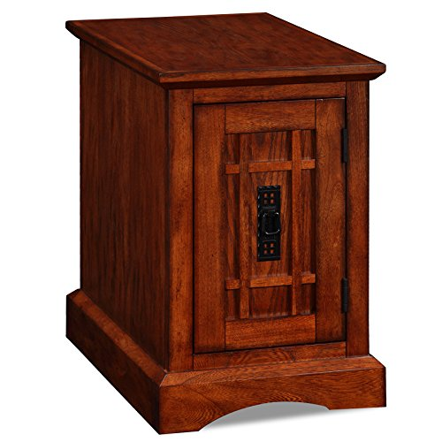 Leick 82401 Home Office End Table, Mission Oak