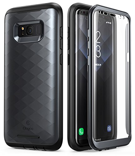 (Samsung Galaxy S8 Plus Case, Clayco [Hera Series] Full-body Rugged Case with Built-in Screen Protector for Samsung Galaxy S8 Plus (2017 Release) (Black))