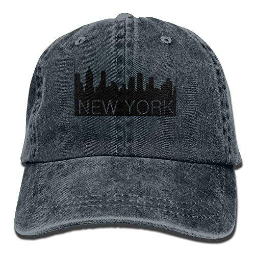 LFishera New York City Denim Baseball Caps Hat Adjustable Cotton Sport Strap Cap for Men Women -