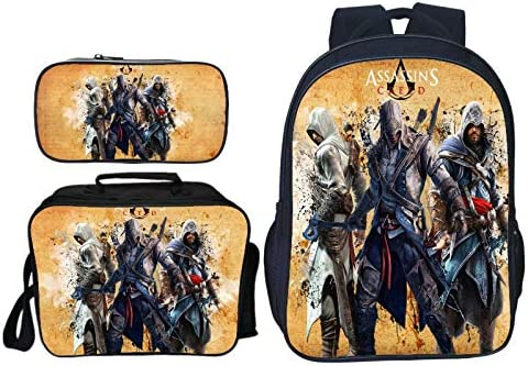 Children S Backpack 3d Assassin S Creed Cartoon Printing Cool