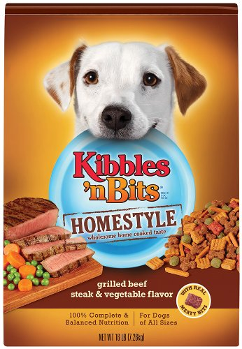 Kibbles n Bits Homestyle Grilled Beef Steak and Vegetable, 16 Pound, My Pet Supplies