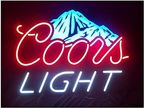 Coors Light Mountain Neon Signs, 17(w) x 14(h) inch Neon Lights made with Real Glass Tube, Beautiful Decoration as Bar - Nails Logo Led Sign
