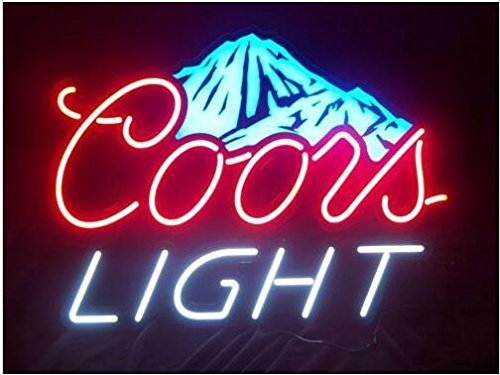 Coors Light Mountain Neon Signs, 17(w) x 14(h) inch Neon Lights made with Real Glass Tube, Beautiful Decoration as Bar Signs
