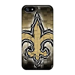 Shockproof Hard Cell-phone Cases For Iphone 5/5s (Bbh16165WIIS) Unique Design Fashion New Orleans Saints Pattern