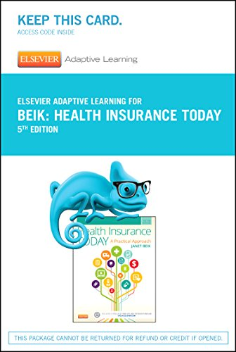 Elsevier Adaptive Learning for Health Insurance Today (Access Code), 5e Pdf