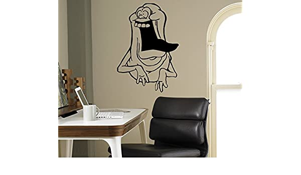 Amazon com slimer wall vinyl decal ghostbusters wall sticker cartoons home interior removable children kids room decor 16gbr home improvement