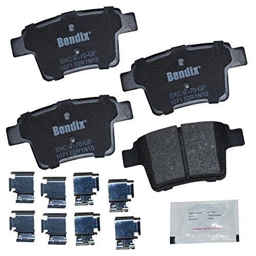 Ford Taurus Bendix Brake - Bendix CFC1071 Premium Copper Free Ceramic Brake Pad (with Installation Hardware Rear)