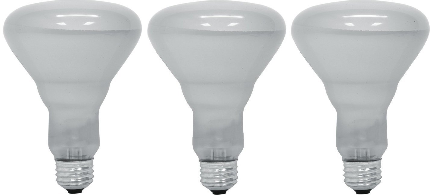 GE Lighting 20330 45 Watt Floodlight BR30 Light Bulb, Soft White, 3 Bulbs