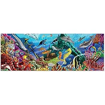Melissa & Doug Underwater Oasis Jumbo Jigsaw Floor Puzzle (200 pcs, over 4 feet long)