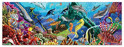 "Melissa & Doug Underwater Oasis Floor Puzzle (Easy-Clean Surface, Promotes Hand-Eye Coordination, 200 Pieces, 18"" L x 50"" W)"