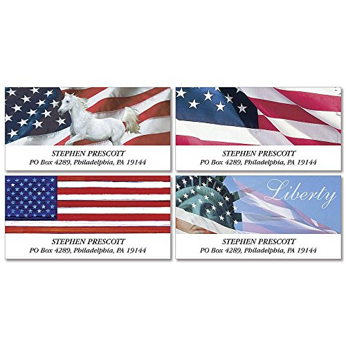 Tribute Self-Adhesive, Flat-Sheet Deluxe Address Labels (4 Designs)