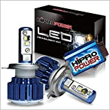 Hipro Power CREE XM-L2 H4 (9003) Dual Beam LED Headlight Kit - H4 (9003) CREE XM-L2 80W 8,000LMS 6000K Diamond White For Low & High Beam - 2 Yr Warranty