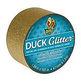 Bulk Glitter Tape, Gold Sparkle, 1.88''x 180'': Duck Brand 284726 New SKU SHUR285443 (64 Glitter Tape Rolls)