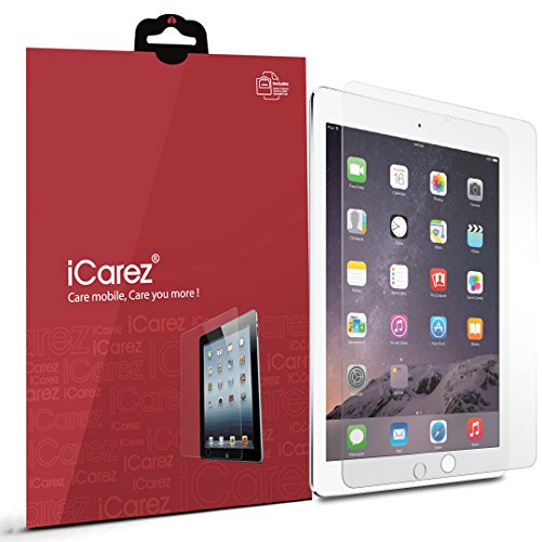 iCarez Anti-Glare/Anti-Fingerprint Screen Protector for New iPad 9.7 Inch (2017) /iPad Pro 9.7 Inch / iPad Air 2 / iPad Air (2 Pack) Matte - Retail Packaging