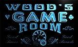 PL1078-b Wood's Game Room Man Cave Beer Bar Neon Light Sign