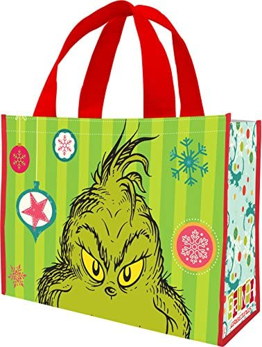 PEANUTS MERRY /& BRIGHT CHRISTMAS 85373 REUSABLE SHOPPING TOTE // GIFT BAG