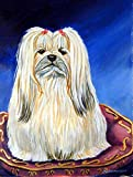 Caroline's Treasures 7129CHF Lhasa Apso Flag Canvas, Large, Multicolor For Sale